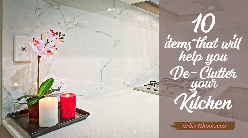 de-clutter your kitchen