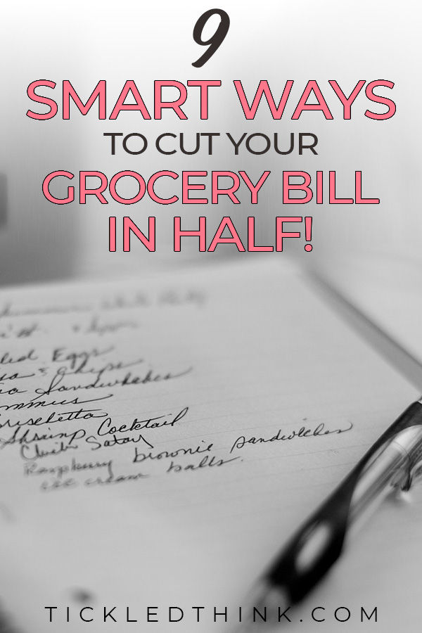 smart ways to cut your grocery bill in half
