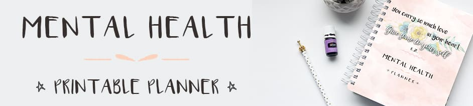 mental health planner to help you be a better you