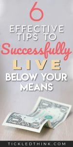 If you want to pay off all your debt faster and reach financial independence, you need to start living below your means. Doing this is crucial in achieving financial success. Read on to learn easy and effective money tips on how to start living below your means. Try these tips today so you can finally live a financially independent life!