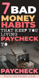 Breaking free from the paycheck to paycheck lifestyle can be done by taking small and easy steps. If you are tired of living paycheck to paycheck and ready to achieve financial freedom, read on to learn easy and effective tips on how to stop living paycheck to paycheck so you can start saving money and finally achieve financial freedom. #frugalliving #debtfree #savemoney #moneymanagement #moneysavingtips #personalfinancetips #budgeting