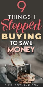 Wondering what it takes to easily save money every month? If you want to start saving money, you need to stop buying these unnecessary items immediately. Read on to learn the things I stopped buying to easily save money. Try these frugal tips out to help you save money every month!
