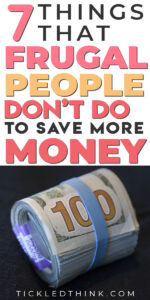 Are you looking for ways to live a more frugal life to help you save money and get out of debt? If you want to finally improve your financial situation, read on to learn the things that frugal people don't do to help them save more money easily and pay off all their debts! Try these frugal tips out to help you start saving money every month fast!