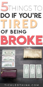 Are you sick and tired of being broke? There are so many people who are stuck living paycheck to paycheck and constantly broke but you don't have to stay one of them. If you want to finally start building wealth, read on to learn easy and effective tips on how to finally stop being broke so you can finally save money, get out of debt and achieve financial freedom.