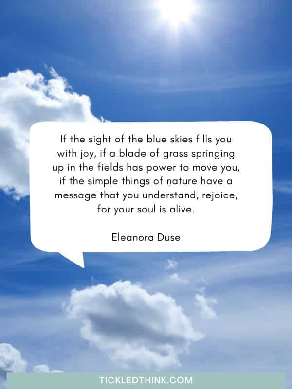 Beautiful blue quotes and sayings