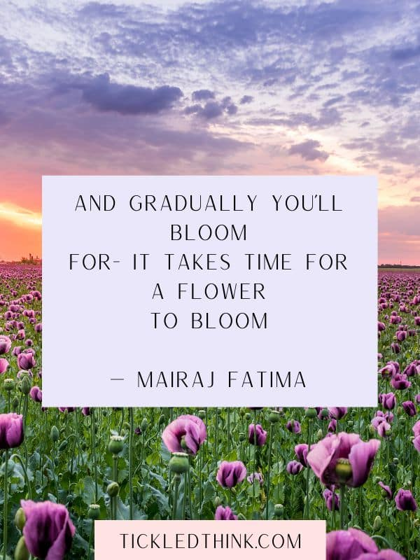 INSPIRING QUOTES ABOUT BLOOMING