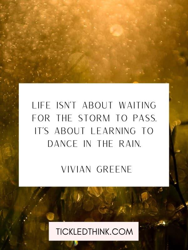 Inspiring rain quotes