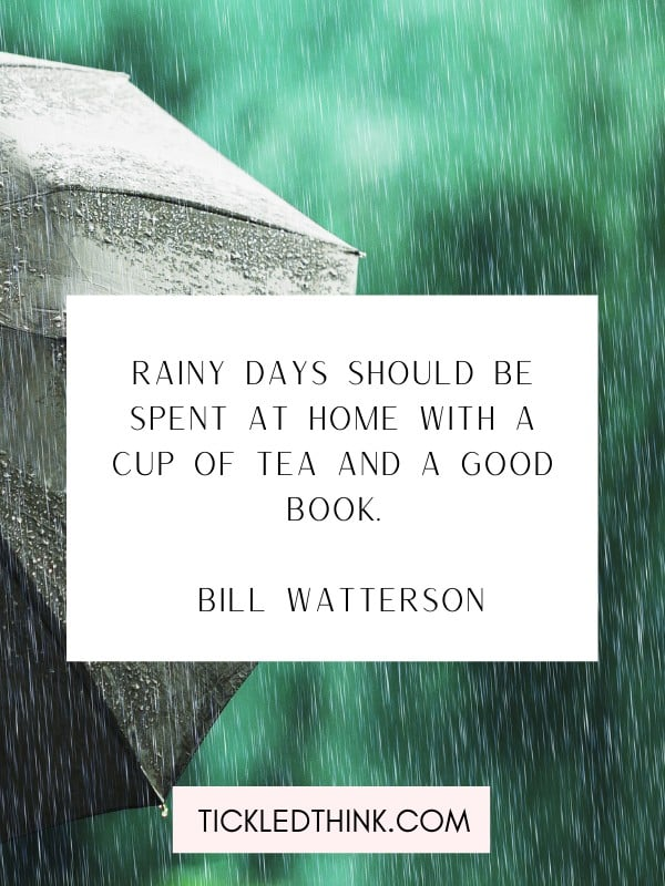 More rain quoted and sayings
