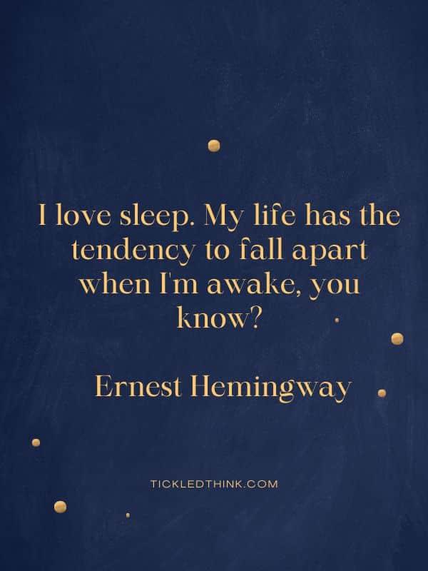Sleep quotes and sayings